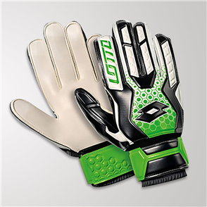Lotto Spider 800 GK Gloves – White/Black/Green