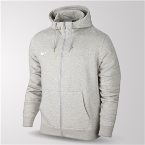 Nike Junior Team Club Full-Zip Hoodie – Grey
