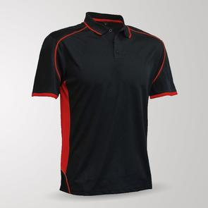 TSS Matchpace Polo – Black/Red