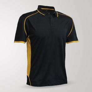 TSS Matchpace Polo – Black/Gold