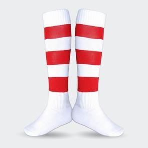 TSS Football Sock – White/Red