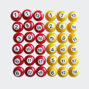 Kiwi FX Numbered Magnets Set for Tactics Board