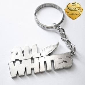All Whites Supporter Keyring
