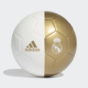 adidas Real Madrid Capitano Ball – White/Dark-Gold