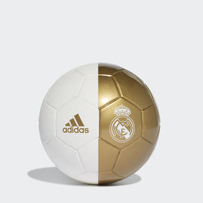 adidas Real Madrid Mini Ball – White/Dark-Gold