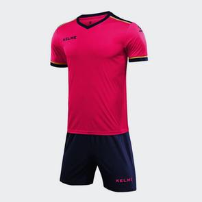 Kelme Tecnica Jersey & Short Set – Neon Pink/Dark Blue