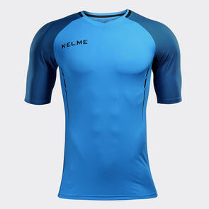 Kelme Junior Trueno Shirt – Neon-Blue/Black