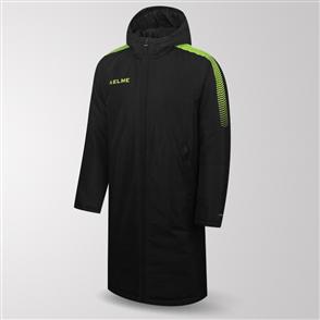Kelme Protecta Long Padded Jacket – Black/Yellow