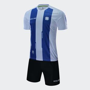 Kelme Junior Banda Jersey & Short Set – White/Royal-Blue