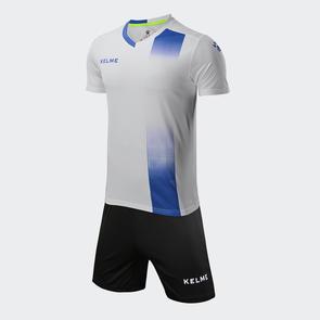 Kelme línea Jersey & Short Set – White/Royal Blue