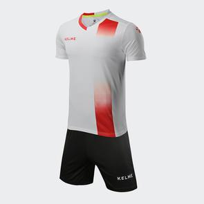 Kelme línea Jersey & Short Set – White/Red