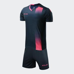 Kelme línea Jersey & Short Set – Dark Blue/Neon Rose