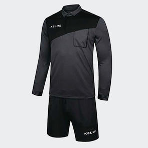 Kelme Arbitro II Long Sleeve Referee Set – Dark-Grey/Black