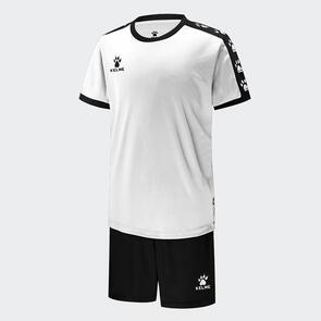 Kelme Junior Cinta Jersey & Short Set – White/Black