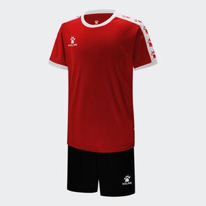 Kelme Junior Cinta Jersey & Short Set – Red/White