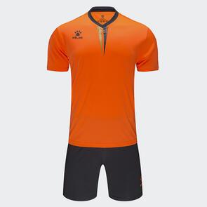 Kelme Volta Jersey & Short Set – Neon-Orange/Dark-Grey