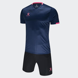 Kelme Estilo Jersey & Short Set – Navy/Neon-Rose