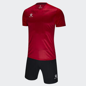 Kelme Estilo Jersey & Short Set – Red/Dark-Red