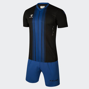 Kelme Paralela Jersey & Short Set – Black/Blue