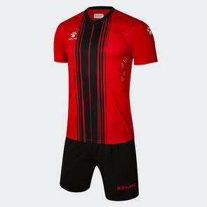 Kelme Paralela Jersey & Short Set – Red/Black