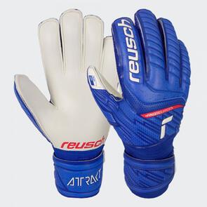 Reusch Attrakt Grip Finger Support – Blue/White