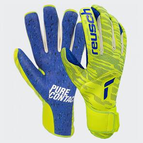 Reusch Pure Contact Fusion GK Gloves – Yellow/Blue