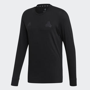 adidas TAN Logo Long Sleeve Tee – Black