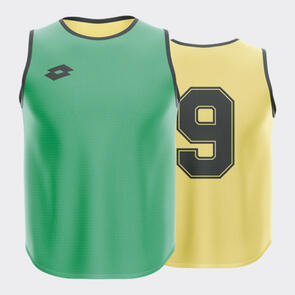 Lotto Numbered Reversible Bib Set – Emerald-Green/Yellow