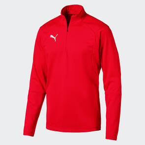 Puma LIGA Training 1/4 Zip Jacket – Red/White