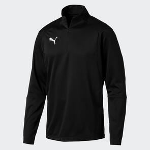 Puma LIGA Training 1/4 Zip Jacket – Black/White