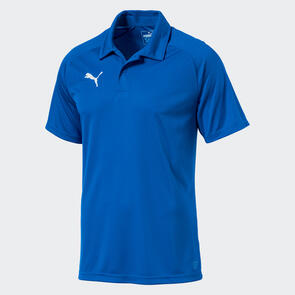 Puma LIGA Sideline Polo – Electric-Blue/White