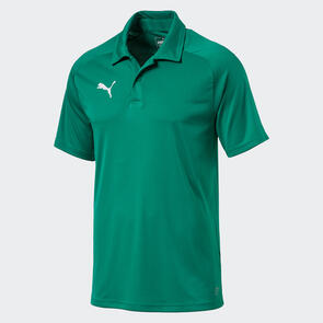Puma LIGA Sideline Polo – Pepper-Green/White