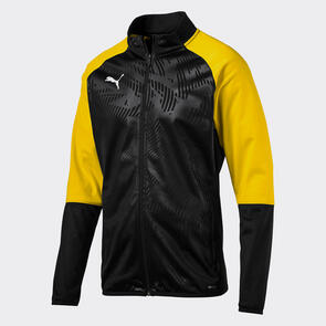 Puma CUP Training Jacket – Black/Cyber-Yellow