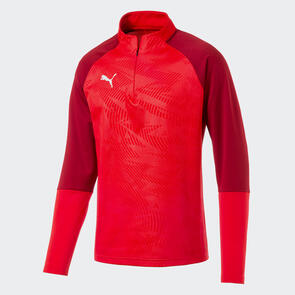 Puma CUP Training 1/4 Zip – Red/Chilli-Pepper