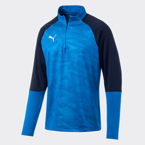 Puma CUP Training 1/4 Zip – Electric-Blue/Peacoat