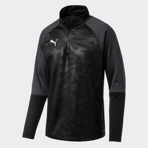 Puma CUP Training 1/4 Zip – Black/Asphalt