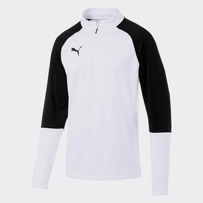 Puma CUP Training 1/4 Zip – White/Black