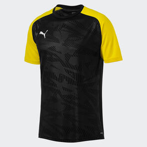 Puma CUP Jersey Core – Black/Cyber-Yellow