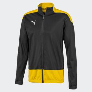 Puma teamGOAL Training Jacket – Black/Cyber-Yellow