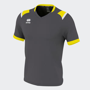 Erreà Lucas Shirt – Athracite/Yellow Fluro/White