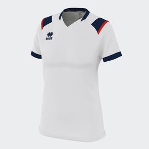 Erreà Women's Lenny Shirt – White/Navy/Red