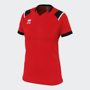 Erreà Women's Lenny Shirt – Red/Black/White
