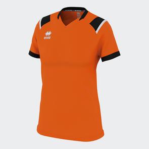 Erreà Women's Lenny Shirt – Orange/Black/White