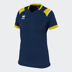 Erreà Women's Lenny Shirt – Navy/Yellow/White