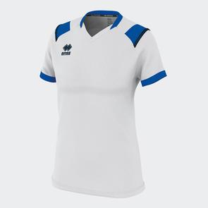 Erreà Women's Lenny Shirt – White/Blue/Navy