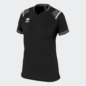 Erreà Women's Lenny Shirt – Black/Anthracite/White