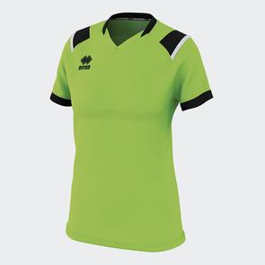 Erreà Women's Lenny Shirt – Green Fluro/Black/White
