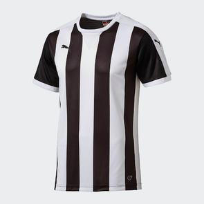 Puma Striped Team Shirt – White/Black