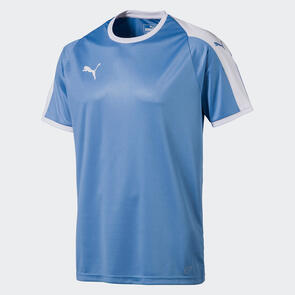 Puma Junior LIGA Jersey – Silver-Lake-Blue/White