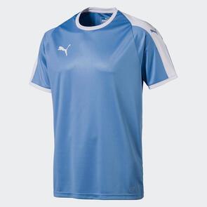 Puma LIGA Jersey – Silver-Lake-Blue/White